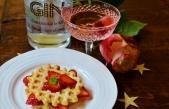 Mimrosa Cocktail and White Chocolate Waffel