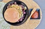 Quinoa Kale Burger with Goji Berry Ketchup
