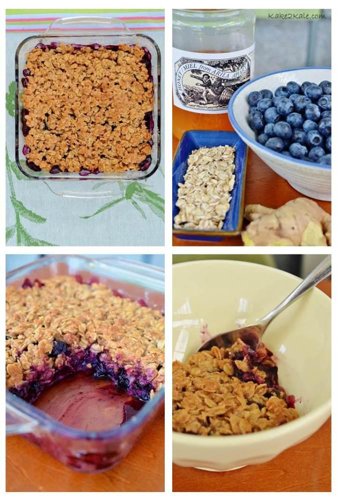 Blueberry Ginger Crumb Cake kake2kale