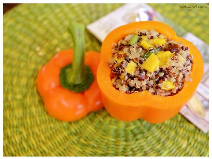 Quinoa Stuffed Peppers from Kake2kale.com