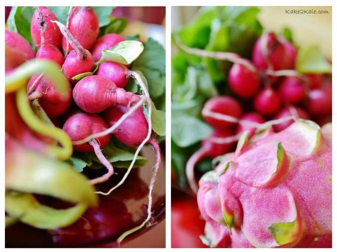 Radish and Dragon Fruit by Kake2Kale